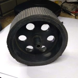 100mm*40mm Black Wheel for 6mm Motor Shaft